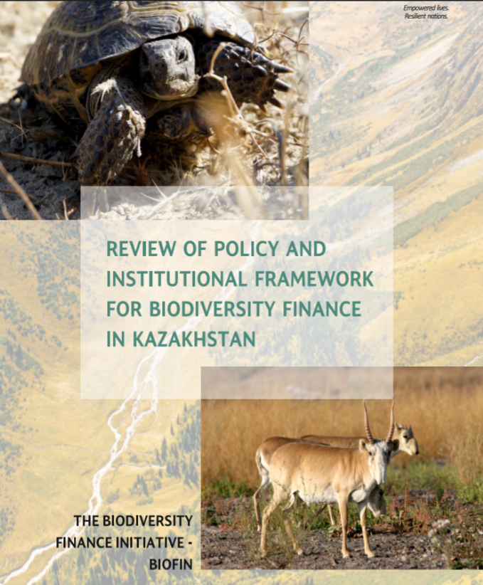 Review of policy and institutional framework for biodirversity finance in Kazakhstan