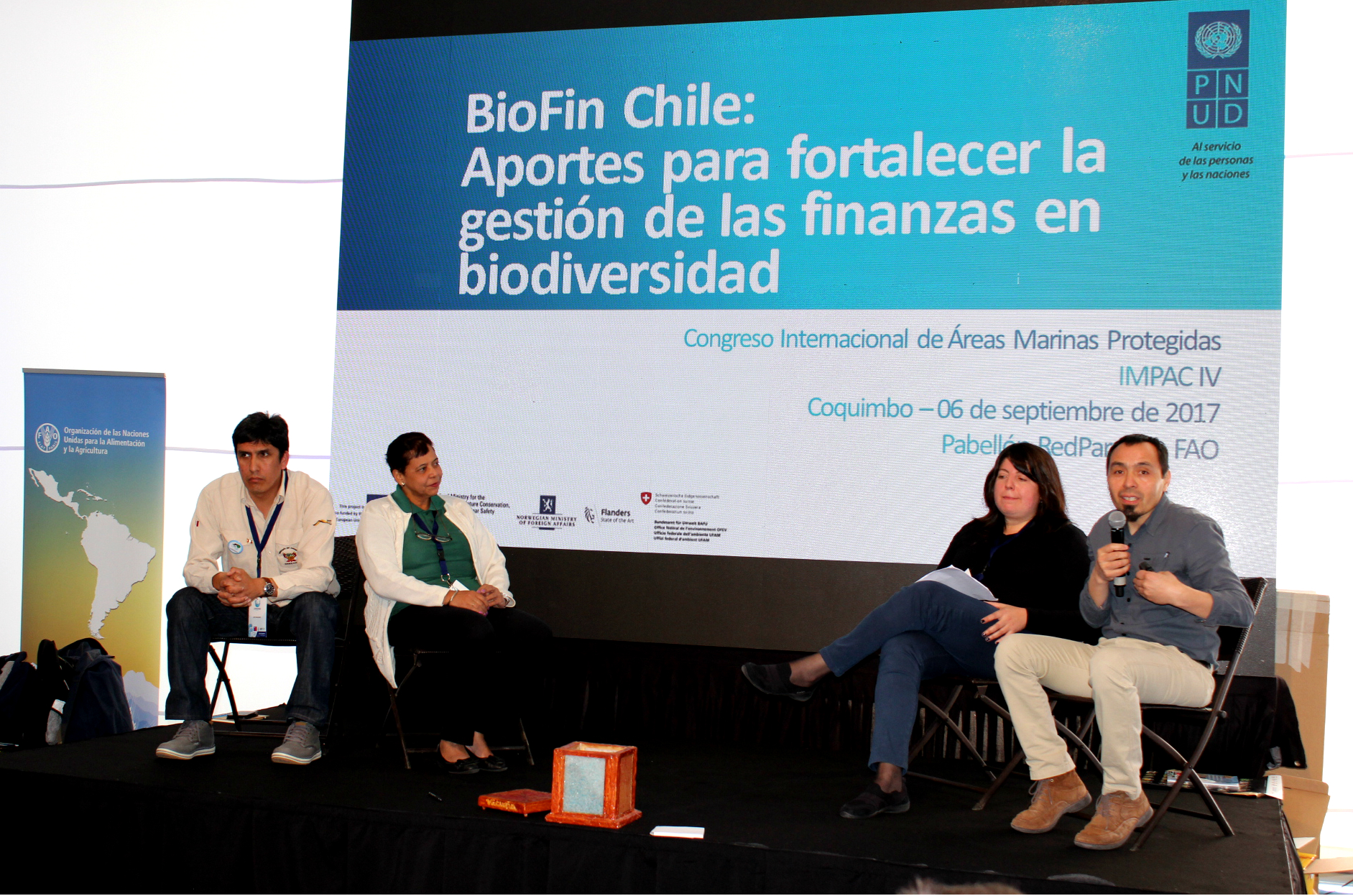 BIOFIN Chile and Cuba present financing strategies during the International Marine Protected Areas Congress IMPAC 4