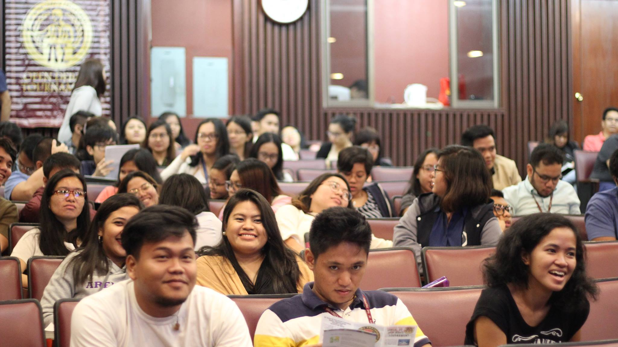 UP students waiting for the commencement of the elimination round of the 30th Annual Open Debate Tournament at Malcolm Hall Theater